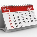 A calendar showing May 2011.