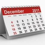 A calendar showing December 2011.