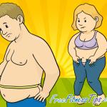 Obesity Cartoon Infographic
