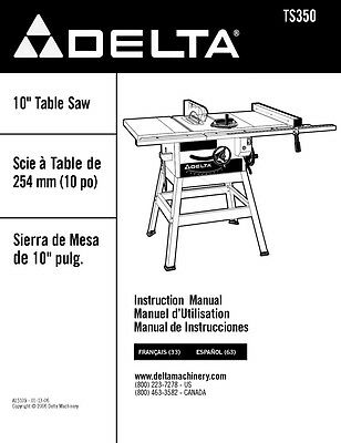 Delta 36-380 xl-10 table saw instruction manual