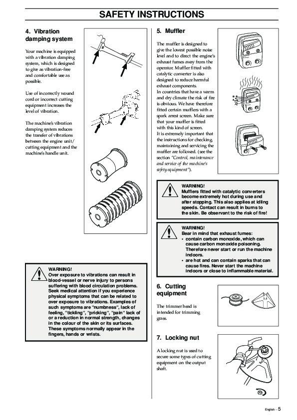 Husqvarna 240 chainsaw instruction manual