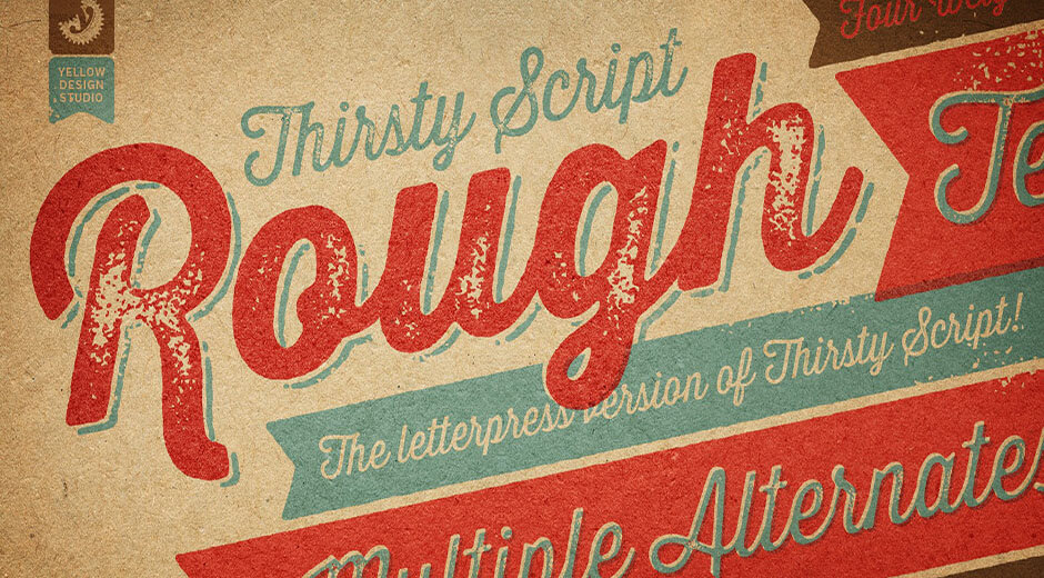 Thirsty Rough Font