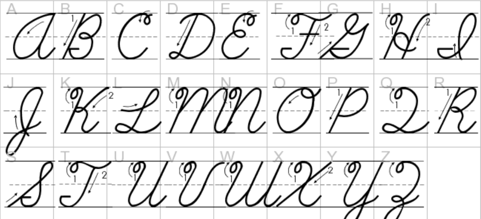 abc in cursive - 100 images - abc cursive writing for preschool ...