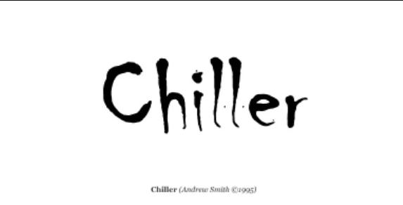 Chiller Font Free Download