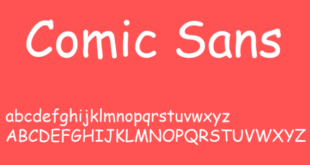 Comic Sans Font 310x165 - Comic Sans MS Font Free Download
