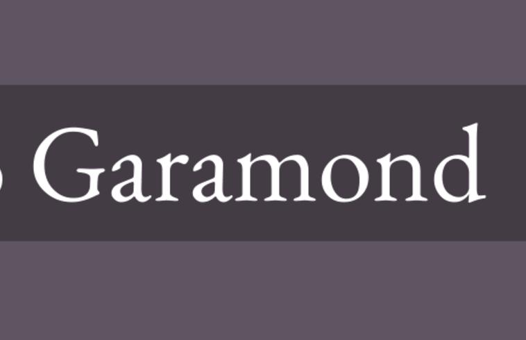 Garamond Font Family Free Download