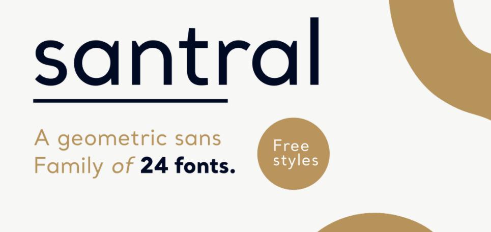 Santral Font Family Free Download