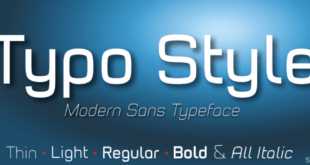 Typo Style Font 310x165 - Typo Style Font Family Free Download