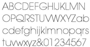 Avantgrade Normal Font