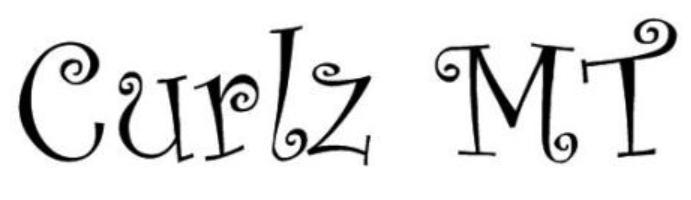 Curlz font free download.