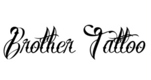 Brother Tattoo 310x165 - Brother Tattoo Font Free Download
