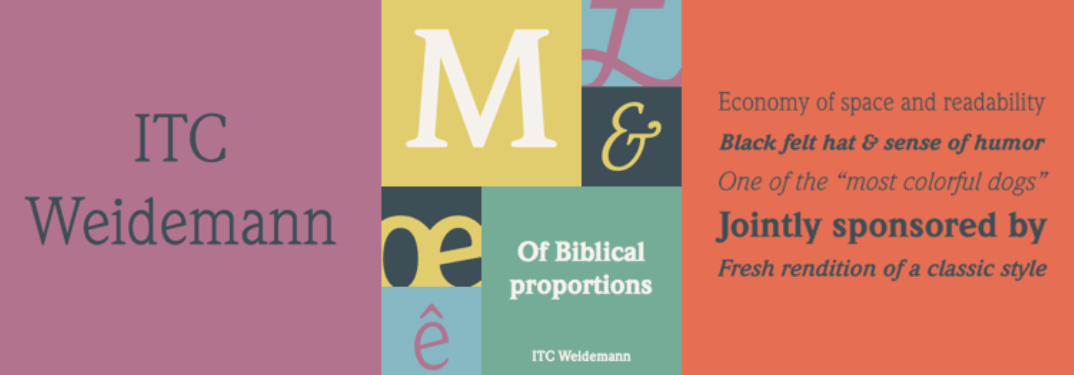 ITC Weidemann Font Family Free Download