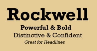 Rockwell Font 310x165 - Rockwell Font Free Download