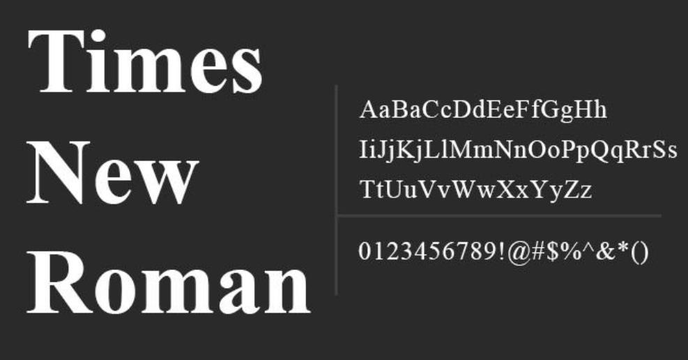 Download free times new roman regular font | dafontfree. Net.