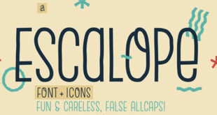 Escalope Font 310x165 - Escalope Typeface Family Free Download