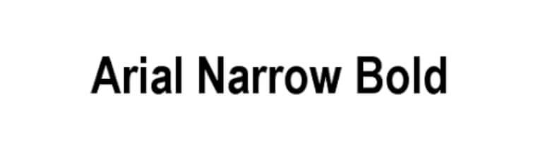 Arial narrow bold font free download.