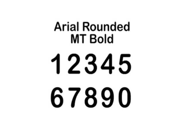 Arial Rounded MT Bold Font