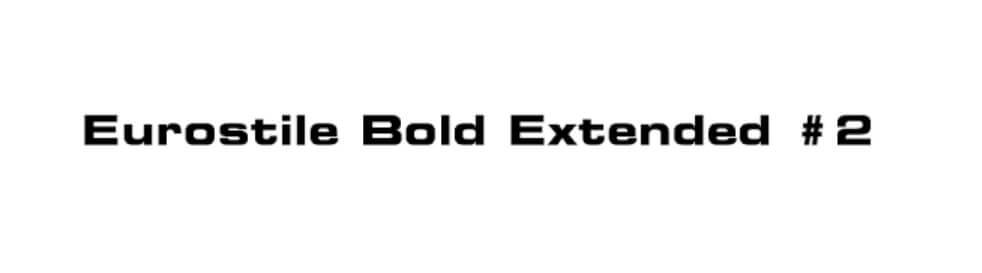 eurostile bold extended #2 font