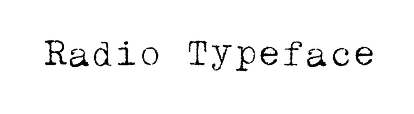 Radio Regular Font