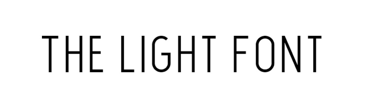 The Light Font Free Download