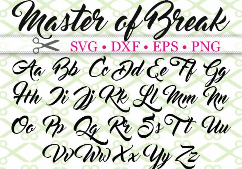 Master of Break Font - Master of Break Font Family Free Download