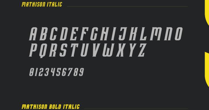 Mathison Typeface Font Free Download