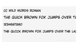 Cc Wild Words Roman 310x165 - Cc Wild Words Roman Font Free Download