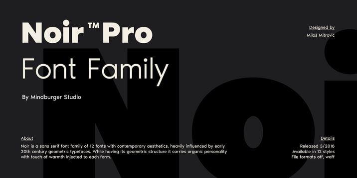 NOIR Typeface Font Free Download