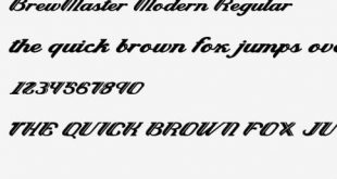 Brewmaster Regular Font 310x165 - Brewmaster Font Family Free Download