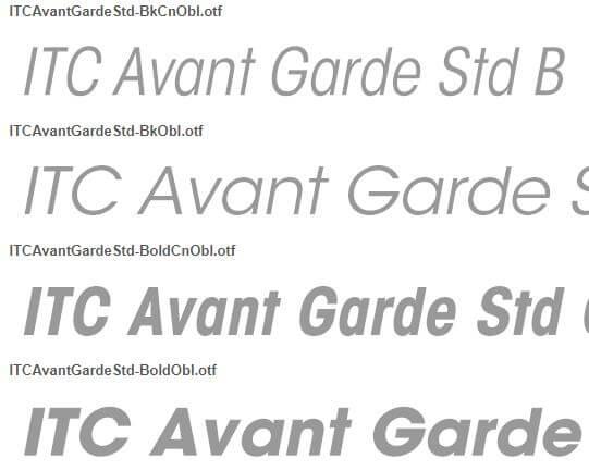 Itc Avant Garde Std Book