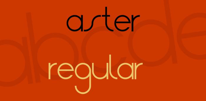new-aster-font