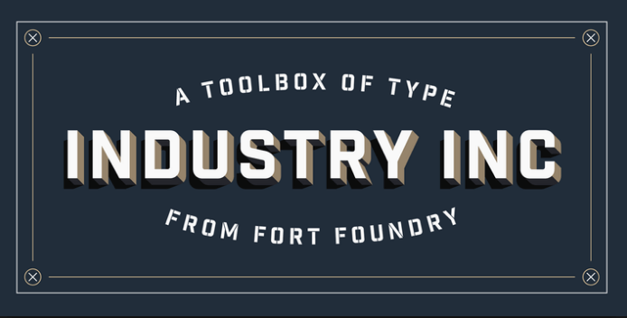 Industrial Sans Font Family Free Download