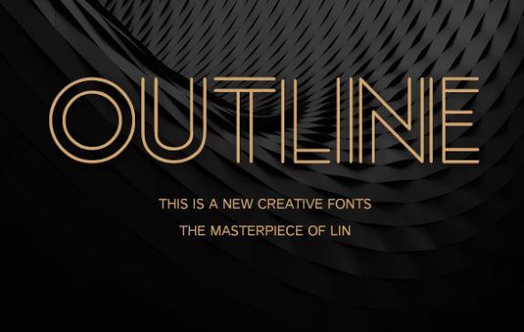 Outline Font Free Download