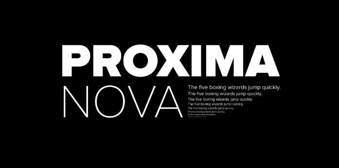 proxima nova font free download