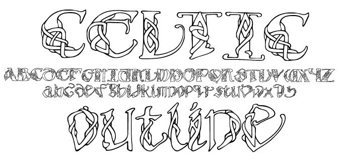 Celtic Font Family Free Download