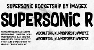 Supersonic Rocketship Font