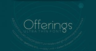 offering thin font 310x165 - Offering Ultra Thin Font Free Download
