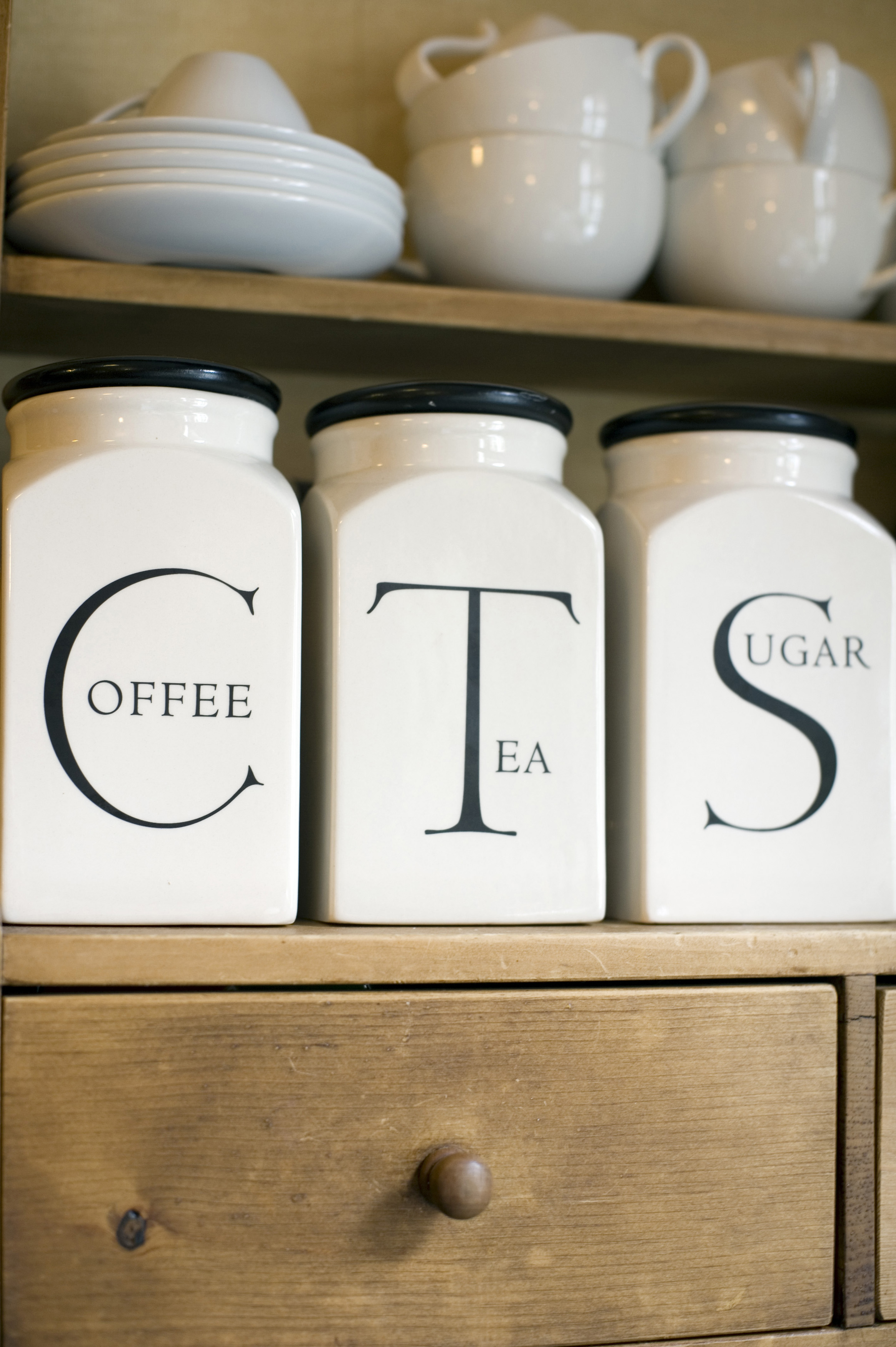 Coffee Tea Sugar canisters or jars  Free Stock Image