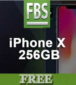 Free iPhone X Promo from FBS