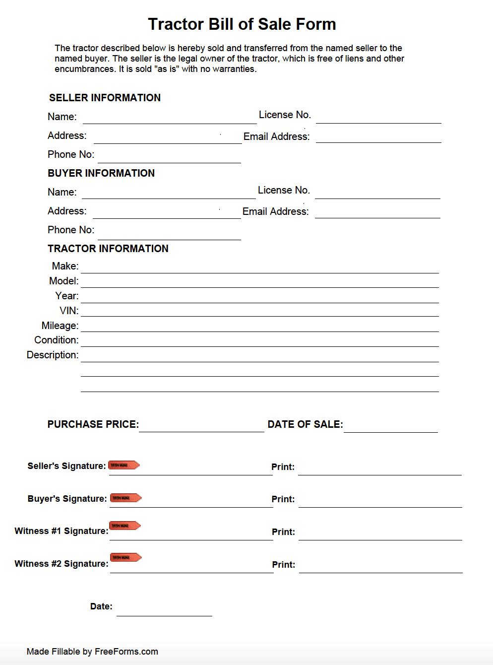 used vehicle bill of sale