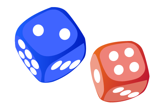 red-and-blue-dice