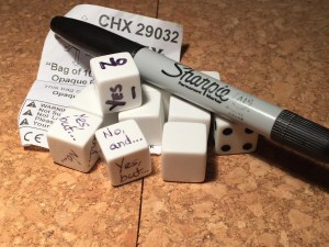 Blank dice turned into custom dice for FU