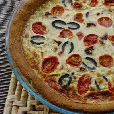 A Gluten-free & Dairy-free Mediterranean Savoury Tart