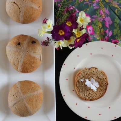 Free From Hot Cross Buns (Gluten-free, Dairy-free, Refined Sugar-free)