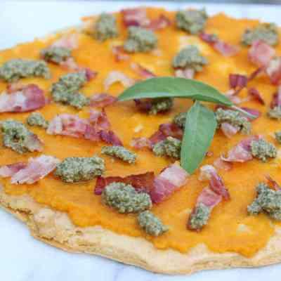 Pancetta, Squash & Sage Pesto Farinata Pizza