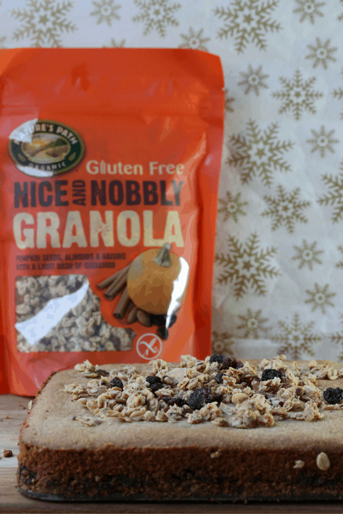Mincemeat granola slice - the perfect free from Christmas treat. Gluten-free, Dairy-free, Egg-free, Vegan