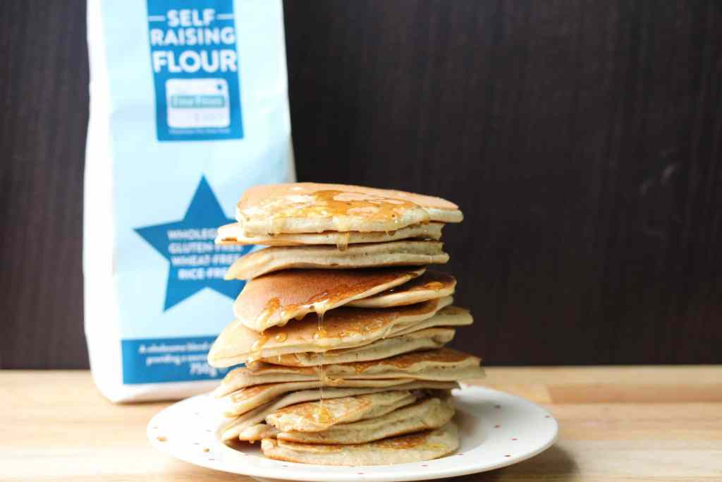 Perfect pancakes made in a jar! Super simple and easy even the kids can do this. Gluten free and dairy free made with Free From Fairy wholegrain gluten and rice free flour blend