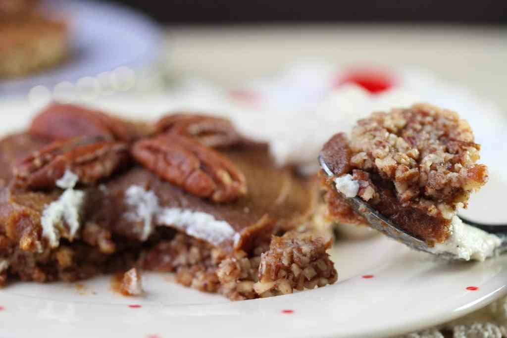 Simple wholesome pecan pie - grain free, dairy free, eggfree, refined sugar free, paleo, GAPS, SCD