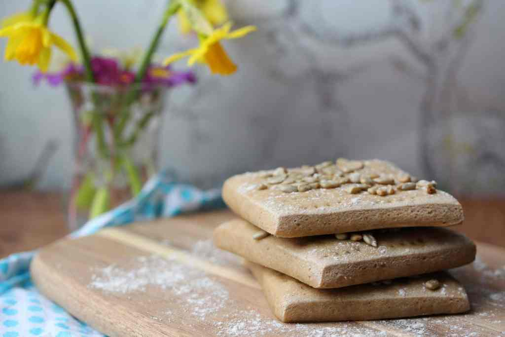 Wholegrain gluten free sandwich thins. Also dairy-free and egg-free. So simple to make.