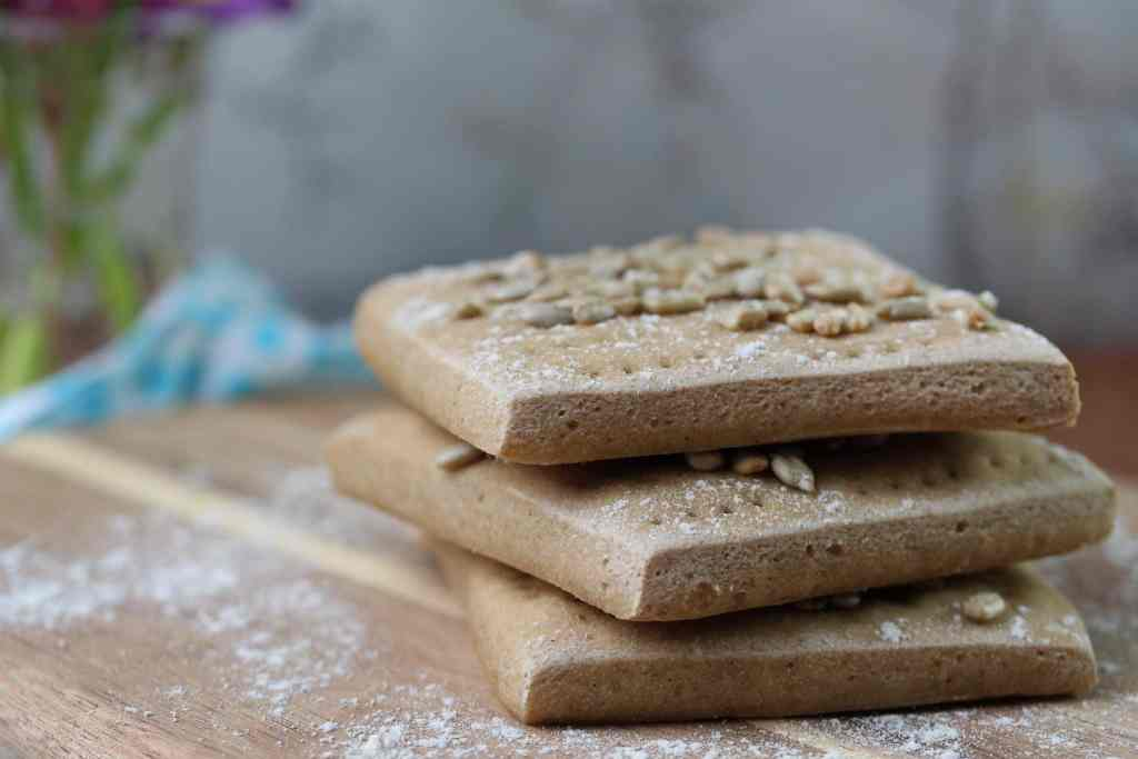 Simple gluten-free, dairy-free, egg-free sandwich thin recipe made from wholegrain free from fairy flour